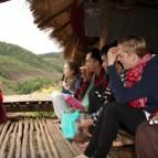 Gespräch in der Hütte